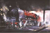 steam locomotive art