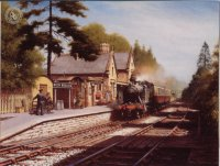 old railway station art prints